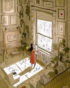 San-Francisco-based illustrator Pascal Campion captures the magic in everyday moments. Each colorful digital illustration is like a snapshot of a precious memory with loved ones, pets, or simply a tranquil moment of solitude. Pascal Campion, Art And Illustration, Animal Illustrations, Illustrations Posters, Art Mignon, Foto Art, Anime Comics, Aesthetic Art, Art Inspo