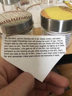 Senior gift Parent gift Dirt Jar baseball or softball Senior Softball, Softball Bags, Softball Crafts, Softball Quotes, Softball Players, Girls Softball, Fastpitch Softball, Softball Pictures, Softball Team Gifts