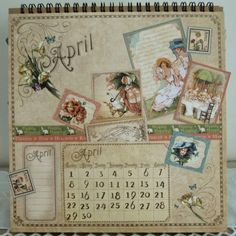 Graphic 45 Calendar Pages | Graphic+45+Easel+Calendar+-+Place+In+Time+-+April+-+Artistic+Hen.JPG