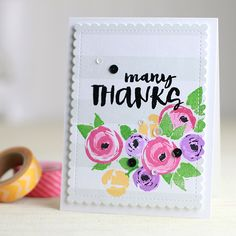 Such a Pretty card by Dawn Woleslagle using brand New stamps available at Simon Says Stamp from the Color of Fun Release.