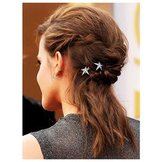 Red Carpet Hair from All Angles EMMA WATSON ❤ liked on Polyvore featuring hair