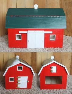Custom Handmade Wooden Toy Barn