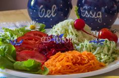 Fresh salads.