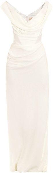 Vivienne Westwood Gold Label Cocotte Georgette Drape Dress in Purple (ivory) - Lyst