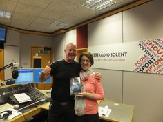 Julian Clegg and Pauline Rowson with Shroud of Evil - April 2014