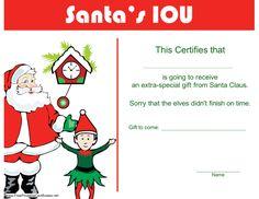 Colorful free printable IOU coupons   DIY   Pinterest   Free ...