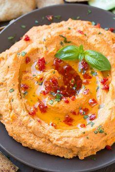 Sun Dried Tomato Basil Hummus | Cooking Classy