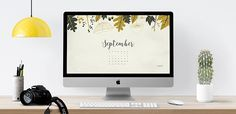 September 2016 free calendar – desktop wallpaper