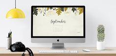 September 2016 free calendar – desktop wallpaper