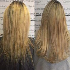 Vorher/Nachher - Haarverdichtung mit @greatlengths Extensions #extensions #haarverlängerung #haarverdichtung #greatlengths #greatlengthsextensions #blondhair #blondehaare #blondehair #blondie