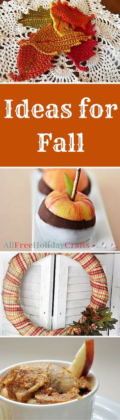 Cute fall craft ideas and fall recipes! I don't know which to make first!