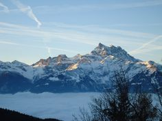 Sunrise on Les Dents du Midi from Villars #Villars #Dentsdumidi #sunrise ©FMartini