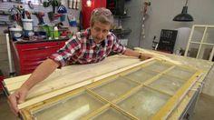 Hur bygger jag ett vitrinskåp av gamla fönster? - TV4 Play