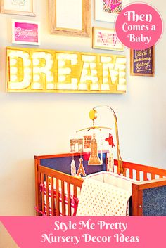 We  love these fab nursery decor ideas from Style Me Pretty. They have tons of style that we can apply to our own nurseries & home decor!
