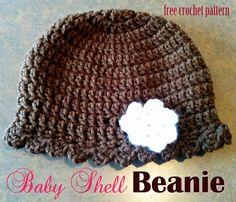 Free Ravelry: Baby Shell Beanie pattern by Jennifer Newman