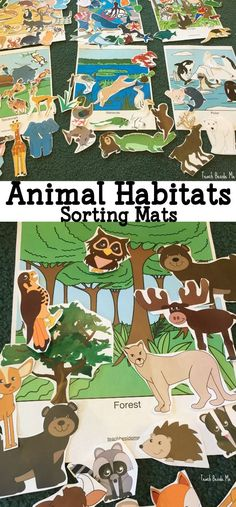 Animal Habitats sorting and play mats via @karyntripp