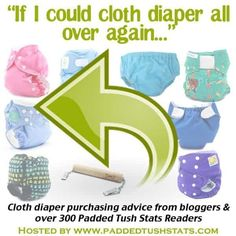 If I Could Cloth Diaper All Over Again Advice. More than 300 cloth diaper users gave their feedback on what they'd do differently (or the same!) if they were to start cloth diapering all over again. See what advice they'd give to those just starting out. Cloth Diaper Reviews, Used Cloth Diapers, Cloth Nappies, Cloth Pads, Disposable Diapers, Clothing Hacks, Worth Clothing, Clothing Ideas, Baby Hacks