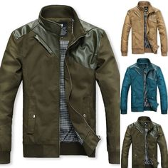 $47.98 / Mens Jackets Casual Leather Stand Collar Jacket via martEnvy. Click on the image to see more! / FREE SHIPPING