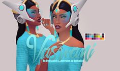 Vaswani - Overwatch Symmetra - Earings + headpiece   Accesoires   Si-Fi + Alien   by Valhallansim via tumblr   Sims 4   TS4 I Maxis Match   MM   CC