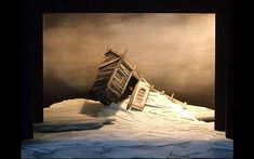 The Tempest (End of the production) Model box. RSC. Scenic design by Giles Cadle. 2006