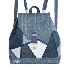 Denim Backpack, Denim Tote Bags, Backpack Bags, Patchwork Bags, Quilted Bag, Denim Handbags, Purses And Handbags, Mochila Jeans, Recycle Jeans