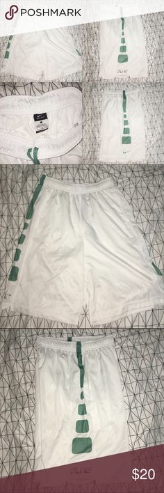 NIKE DRY FIT ELITE BASKETBALL SHORTS! Nike basketball shorts. Dry fit. Worn once. Best conditions! Colors are niceeee. BOYS LARGE. The length is pretty long. I'm a small and it was kind of bigger on me than the other basketball shorts that were posted. Nike Shorts