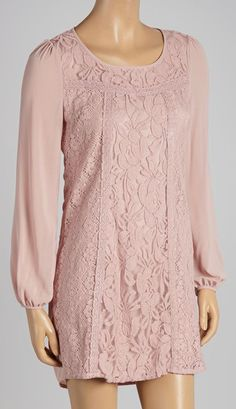 Dusty Pink Lace Shift Dress... I cod do this! :)