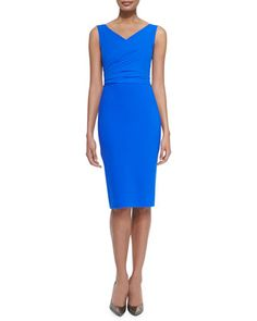 Solomy Sleeveless Draped-Bodice Cocktail Dress by La Petite Robe di Chiara Boni at Neiman Marcus.