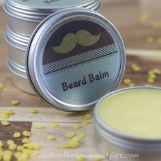 DIY Cedardwood Beard Balm for Men. What a great gift! | Fireflies and Mud Pies