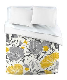 I want.  Take a look at this Gray & Yellow Bryant Park Duvet Cover by DENY Designs on #zulily today!