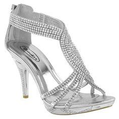 fashion thirsty chaussures femme diamant talon haut mariage marie soire synthtique 39 - Escarpin Argent Mariage