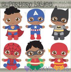 Superhéroe bebé Clip art-Personal y limitada comercial uso - Super héroes bebés imágenes prediseñadas