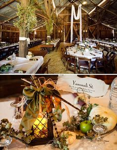 I like that they mixed the tables. I LOVE the 'foliage' on the poles. Cute idea! Maybe add some forsythia branches!!!! THAT WOULD BE GORGEOUS!