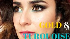 Gold & Turquoise Makeup :)