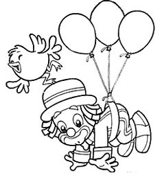 ... Pattern Coloring Pages, Colouring Pages, Coloring Sheets, Coloring Books, Clown Crafts, Circus Crafts, Alex Craft, Precious Moments Coloring Pages, Clown Party