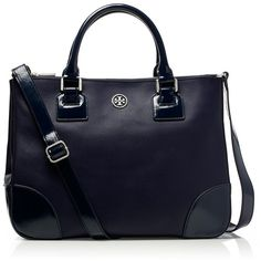 Tory Burch Robinson Double Zip Tote ($575) ❤ liked on Polyvore