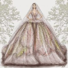2015+Haute+Couture+Dresses+Illustration+by+Arab+illustrator+Shamekh+03.jpg (640×640)