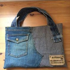 Jeans bag Denim purse Denim ha