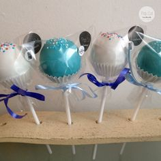 Standard Cake Pops blau/weiß