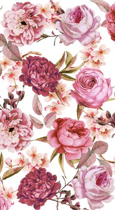 Wallpaper Iphone Floral Flower Ideas For 2019 Floral Wallpaper Iphone, Flower Background Wallpaper, Watercolor Wallpaper, Trendy Wallpaper, Watercolor Rose, Pretty Wallpapers, Flower Wallpaper, Floral Watercolor Background, Line Background