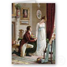 Regency gentleman proposing