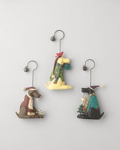 Set of 3 dapper dog ornaments  $29.95 for set