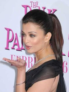 Aishwarya Rais sexy ponytail hairstyle