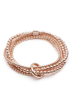 A YARD OF ROSE GOLD BRACELET. ANNIE HAAK STYLE.
