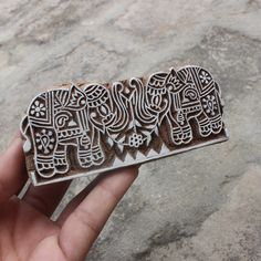Elephant Fabric Stamp Indian Fabric Stamp Elephant Pair Wood Block Stamp Carve Textile Block For Printing Hand Carved Soap Making Stamp Elephant Fabric, Stamp Carving, Fabric Stamping, Indian Fabric, Textiles, Elephant Design, Motif Design, Wooden Hand, Wooden Blocks
