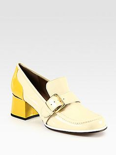 Marni Bicolor Patent Leather Loafer Pumps