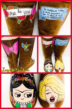 Marilyn monroe and Frida Kahlo boots
