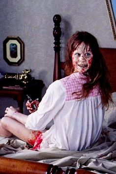 The Exorcist.  Probably the single most disturbing scene - of many disturbing scenes.