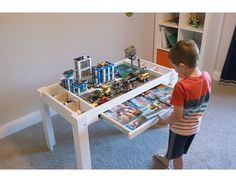 I love Legos and so do my kids. I will show you how I built my own DIY Lego storage table and provide you all the information you need to build your own DIY Lego play table. Lego Play Table, Lego Table With Storage, Kids Play Table, Kid Table, Diy Lego Table, Lego Building Table, Easy Arts And Crafts, Crafts For Kids To Make, Art Crafts