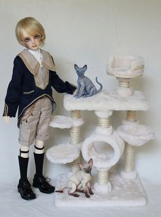 Cat Trees by Stephanie Meier Cat Trees, Bjd, Profile, Dolls, Facebook, Pets, User Profile, Baby Dolls, Puppet
